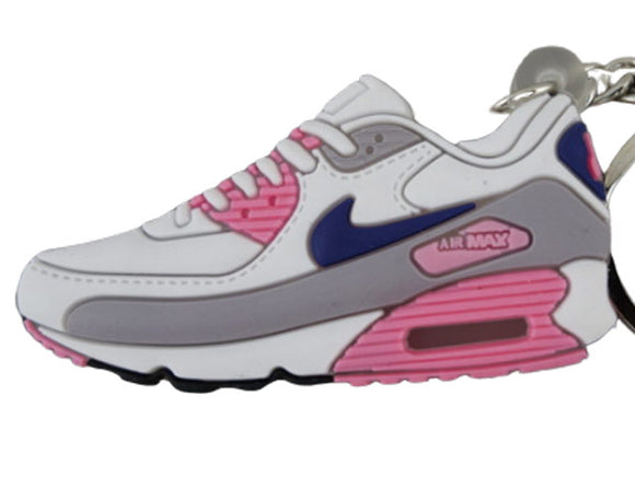 Flat Silicon keychain - Airmax 90 Pink/White/Grey