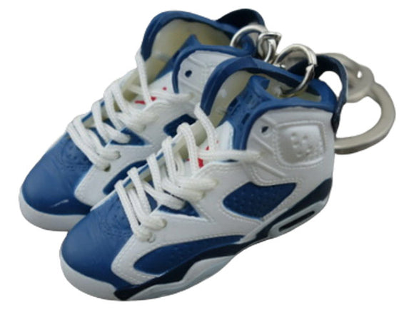 Mini Sneaker Keychains Air Jordan 6 - Olympic