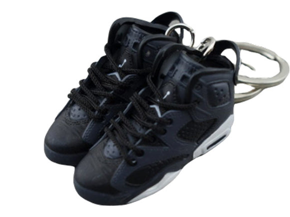 Mini Sneaker Keychains Air Jordan 6 - Black Cat