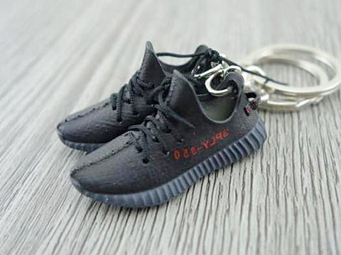 Mini Sneaker Keychains Adidas Yeezy Boost 350 V.2 - Black Red