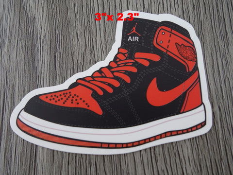 Air Jordan 1 sticker - Design B - BRED