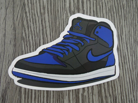 Air Jordan 1 sticker - Design F - Royal Blue