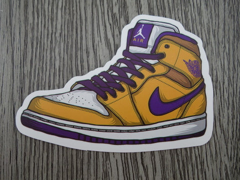 Air Jordan 1 sticker - Design H - Lakers