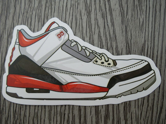Air Jordan 3 sticker - Design C - Fire Red