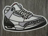 Air Jordan 3 sticker - Design E - OG 88