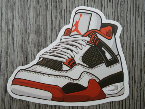 Air jordan 4 sticker design f