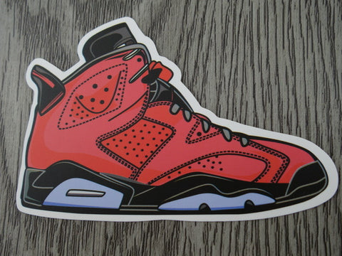 Air Jordan 6 sticker - Design C