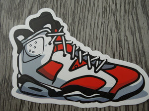 Air Jordan 6 sticker - Design D -  Carmine