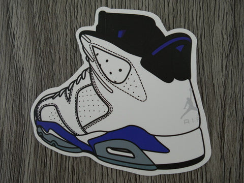 Air Jordan 6 sticker - Design F