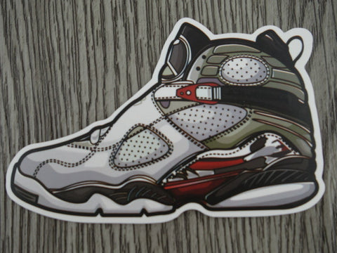 Air Jordan 8 sticker - Design B
