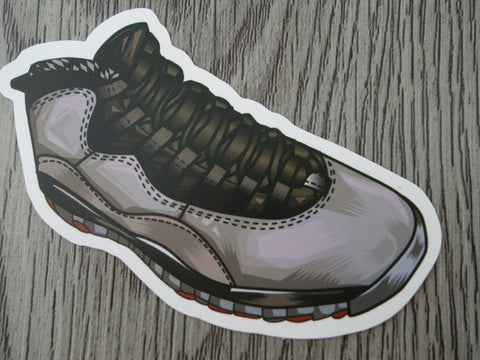 Air Jordan 10 sticker - Design C
