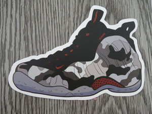 Nike Foamposite sneaker sticker - design G