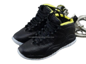 Mini Sneaker Keychains AJ 10 - Black/Yellow