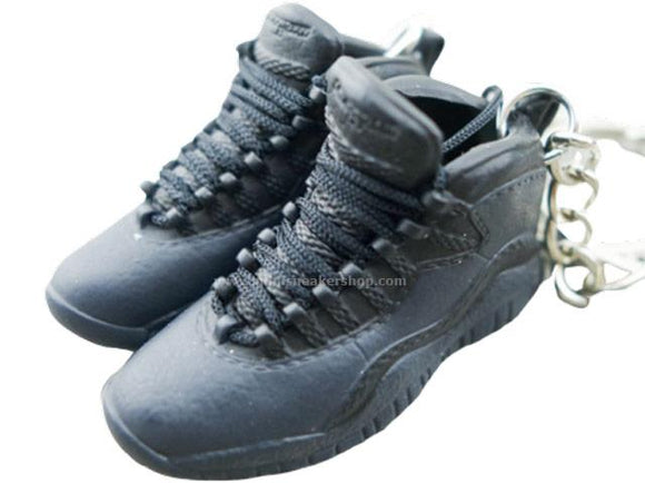 Mini Sneaker Keychains Air Jordan 10 - Triple Black