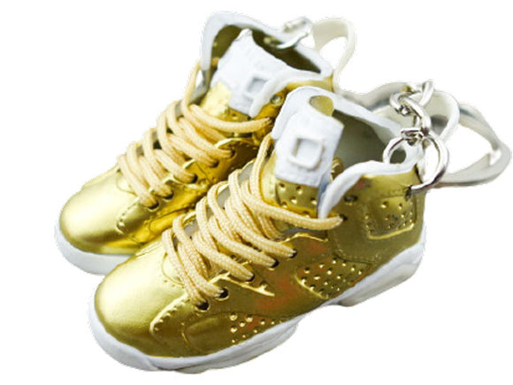 Mini Sneaker Keychains Air Jordan 6 - Pinnacle - Metallic Gold
