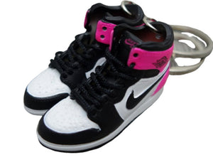 Mini sneaker keychain 3D Air Jordan 1 - Fushia Pink/ Black and White