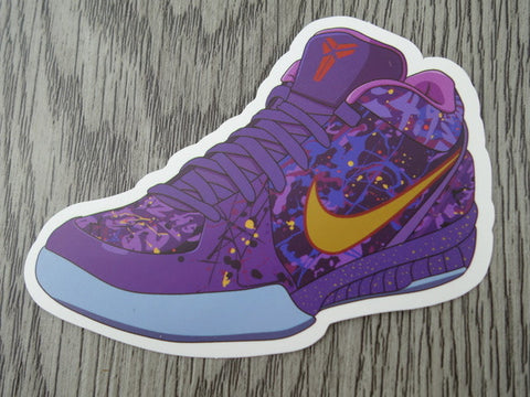 Kobe sneaker sticker - design A