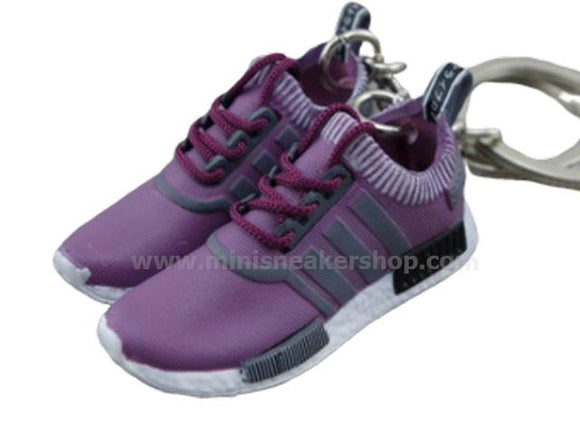 Mini Sneaker Keychains Adidas NMD runner - Purple