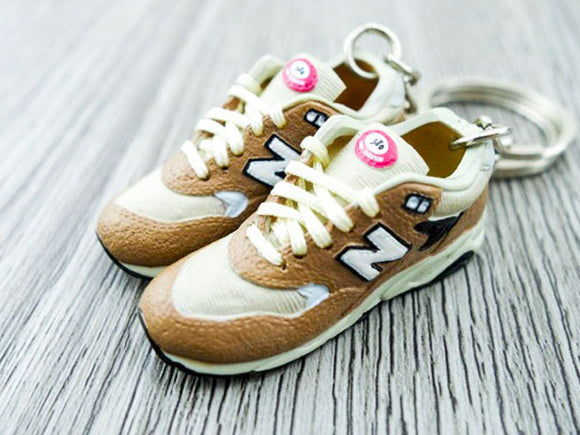 Mini 3D sneaker keychains New Balance - Brown Beige Pink