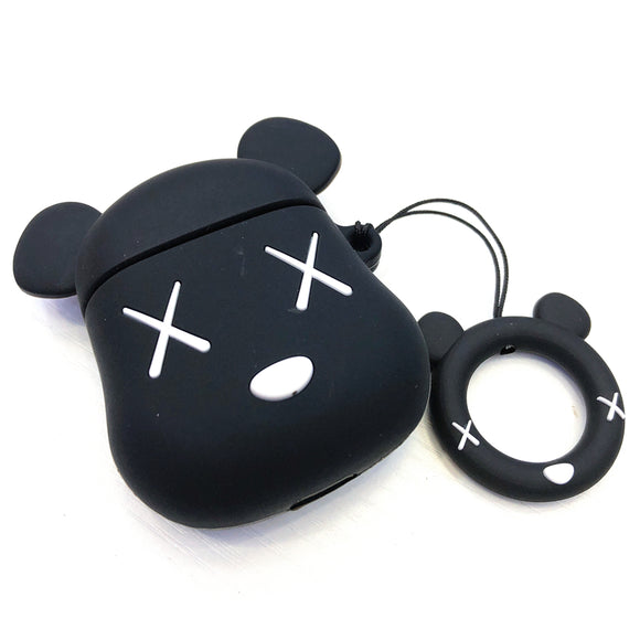 Kaws x Bearbrick inspired AirPods cases - BLACK