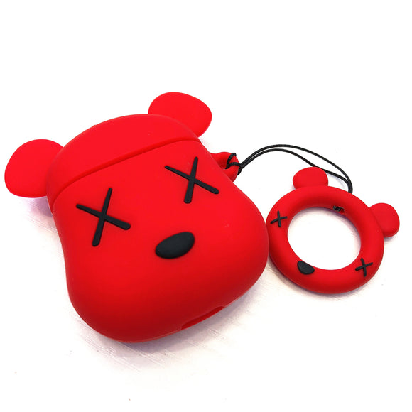 Kaws x Bearbrick inspired AirPods cases - RED