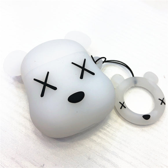 Kaws x Bearbrick inspired AirPods cases - WHITE