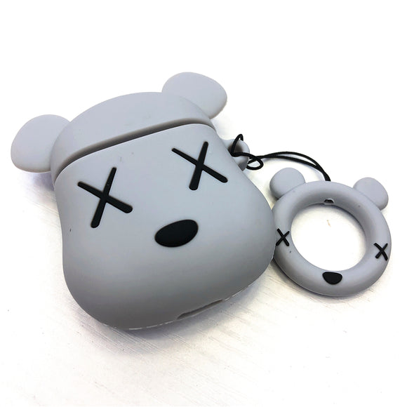 Kaws x Bearbrick inspired AirPods cases - GREY