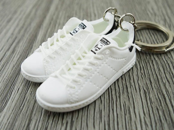 Mini 3D sneaker keychains Adidas Stan Smith - Black and White