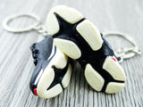 Mini Sneaker Keychains Balenciaga Triple S - Black and Red