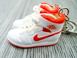 Mini sneaker keychain 3D Air Jordan 1 - OG White Orange HQ