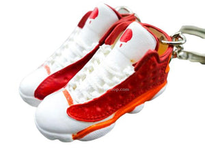 Mini 3D sneaker keychains AJ 13 Red White