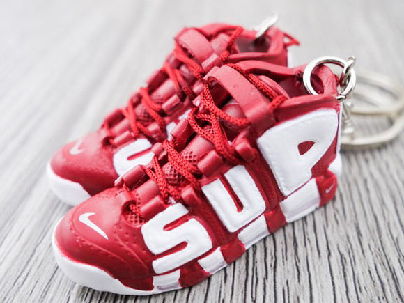 Mini 3D sneaker keychains Air Up Tempo  X SUPREME - Burgundy