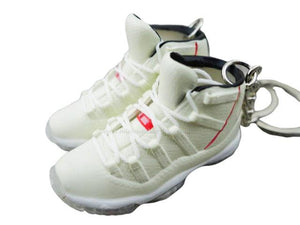 Mini 3D sneaker keychains Air Jordan 11 - Beige Red