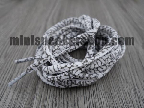 Elephant Prints laces round - White