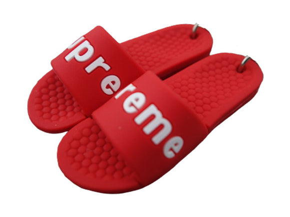 mini 3D sneaker keychains Flip Flops - Sandals - RED