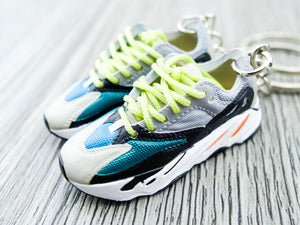 new product 1e1c3 95e67 Mini Sneaker Keychains Adidas Yeezy Boost 700 - Wave Runner