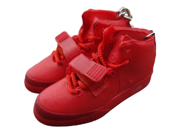 Mini Sneaker Keychains NIKE Yeezy Red October