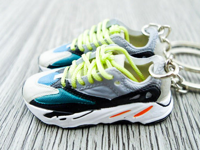 new product ec6a5 83ae2 Mini Sneaker Keychains Adidas Yeezy Boost 700 - Wave Runner