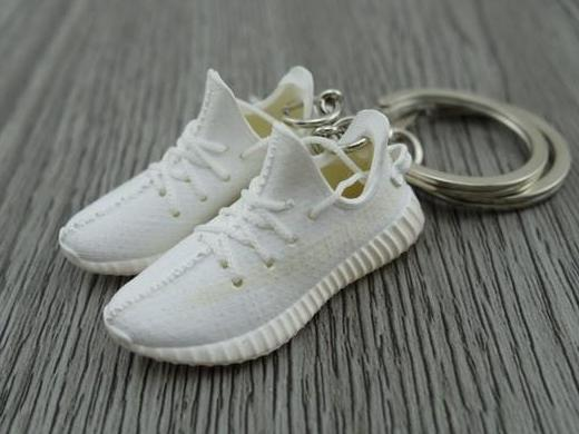 a3cca0deb Mini Sneaker Keychains Adidas Yeezy Boost 350 V.2 - Cream White