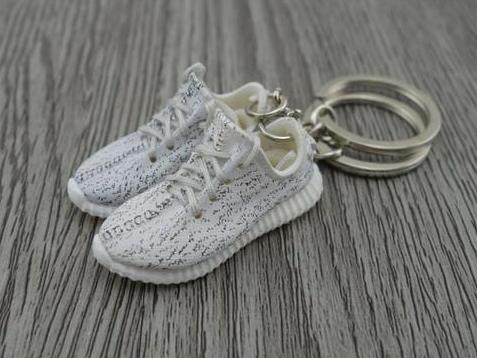 Mini Sneaker Keychains Adidas Yeezy Boost 350 Turtle Dove