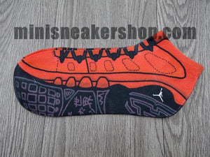 sneaker socks - jordan 9 - Motorboat Jones