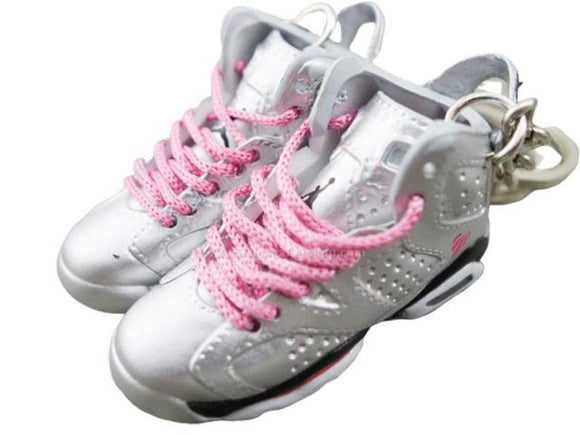 Mini Sneaker Keychains Air Jordan 6 - Valentine's day