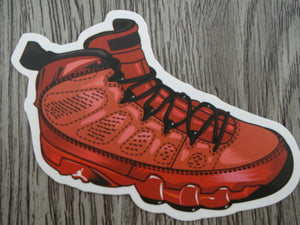 Air Jordan 9 sticker - Design B