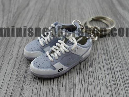mini sneaker keychains Nike Dunk Low Pro SB-  Alphanumeric (GREY)