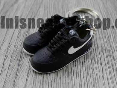 mini 3D sneaker keychains Air Force 1 Black
