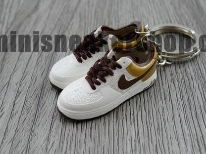 mini sneaker keychains Air Force 1 Gold Purple