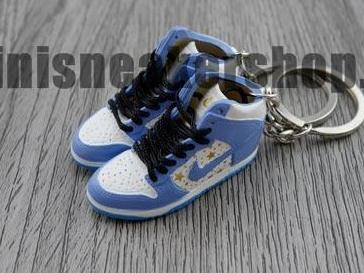 mini sneaker keychains Nike Dunk Pro High SB-  Supreme Blue (2003)
