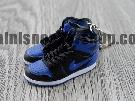 mini sneaker keychain 3D Air Jordan 1 Black Royal Blue (1985)