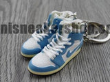 mini sneaker keychain 3D Air Jordan 1 - Blue Carolina (2003)