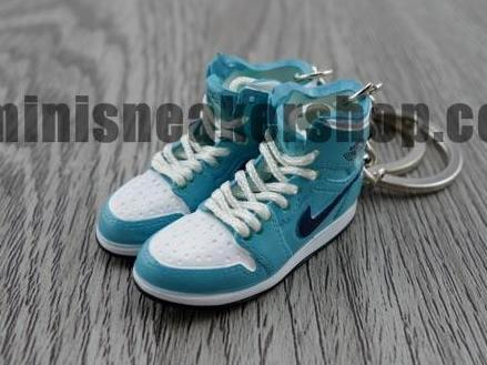 Mini sneaker keychain 3D Air Jordan 1 Blue White